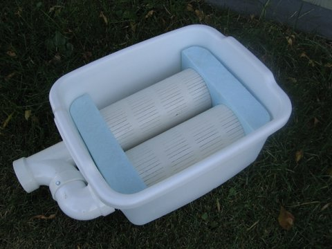 lake water filter double dish pan