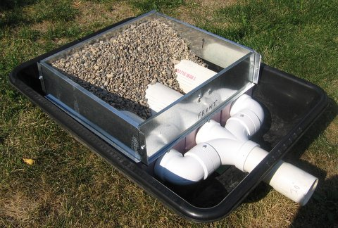 lake water filter with tray